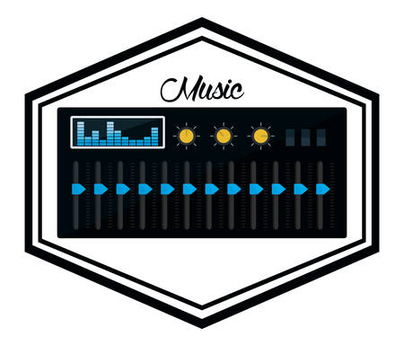 music machine: Music concept with icons design