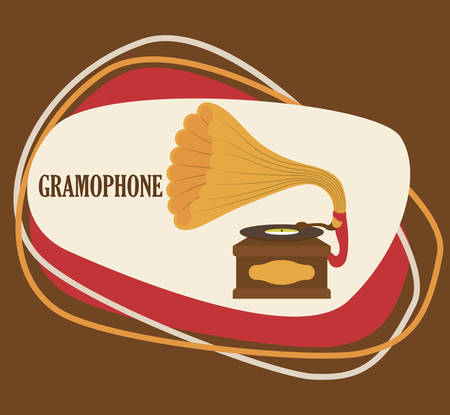 gramaphone: Music concept with icons design