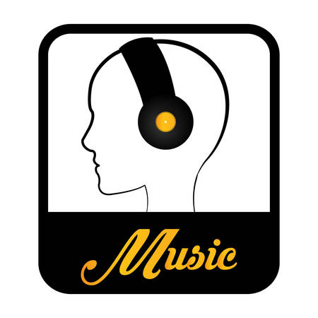 estudio de grabacion: Concepto de la música con el diseño de los iconos