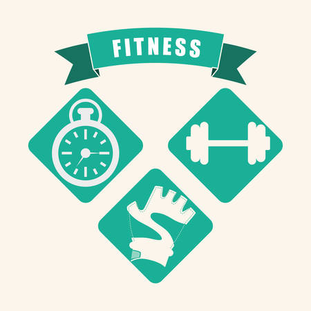 Fitnesscentrum concept met gym iconen ontwerp Vector Illustratie
