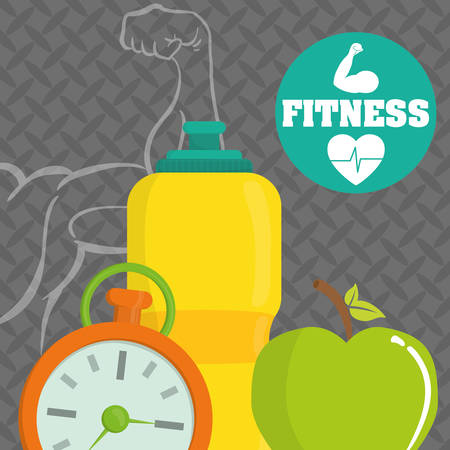 fitness center: Fitness center concept with gym icons design
