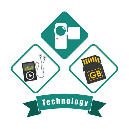 multimedia icon: Technology concept with multimedia icon design