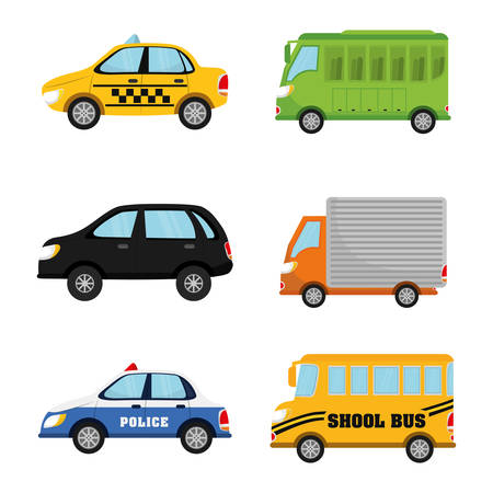 the traffic movement police: Vehicles and transport graphic design, vector illustration