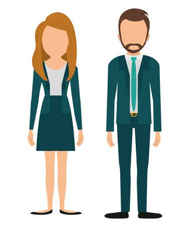 business suit: Busines people graphic design, vector illustration