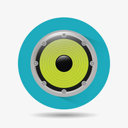 acoustic systems: Music speaker equipment and technology graphic design, vector illustration