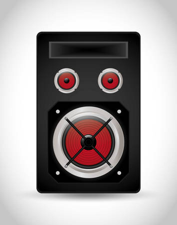 party system: Music speaker equipment and technology graphic design, vector illustration