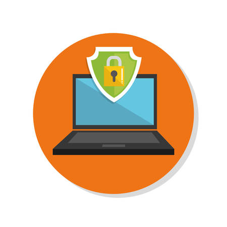security technology: Security system and technology graphic design, vector illustration
