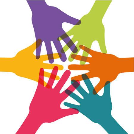community people: Community people graphic design, vector illustration eps10 Illustration