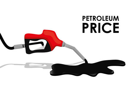 price development: Petroleum industry and prices graphic design, vector illustration eps10 Illustration