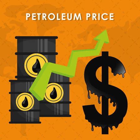 price development: Petroleum industry and prices graphic design, vector illustration