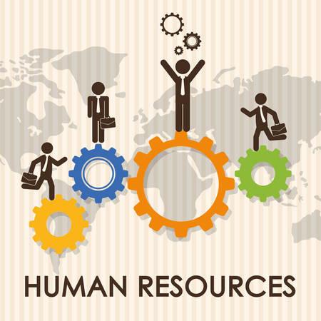 ressources humaines conception graphique, illustration eps10