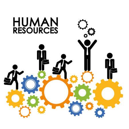 Le risorse umane graphic design, illustrazione vettoriale eps10