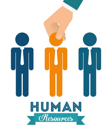 human hand: Human resources graphic design, vector illustration eps10 Illustration