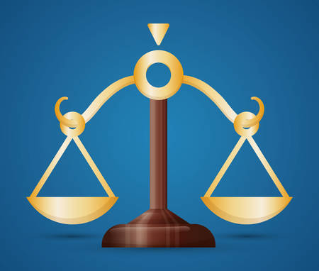 legal system: Balance law and justice graphic design, vector illustration eps10