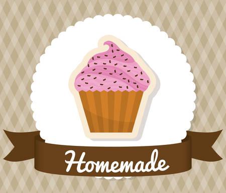 homemade: Homemade dessert recipe graphic design, vector illustration eps10