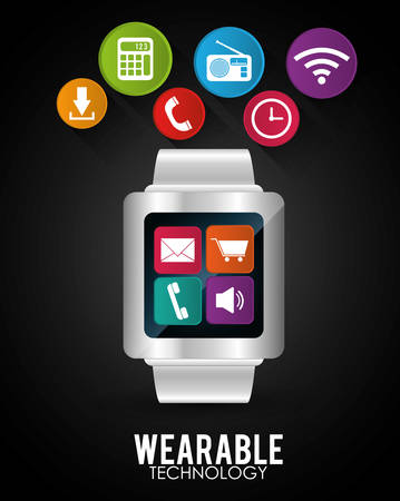 wearable: Wearable technology graphic design, vector illustration eps10