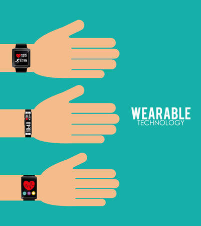 Wearable technology graphic design, vector illustration eps10