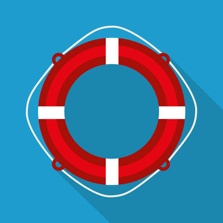 nautical equipment: Sea and nautical equipment graphic design, vector illustration