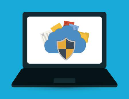 lock block: Security system surveillance graphic design, vector illustration eps10 Illustration