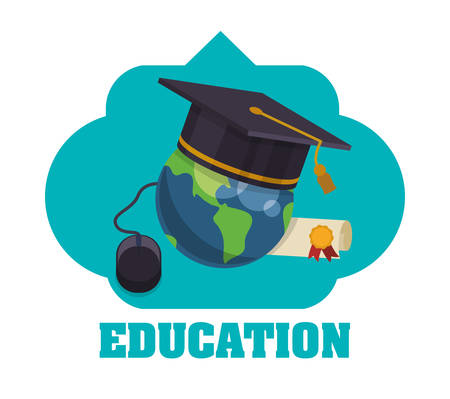 Education concept with school icons design, vector illustration 10 eps graphic.