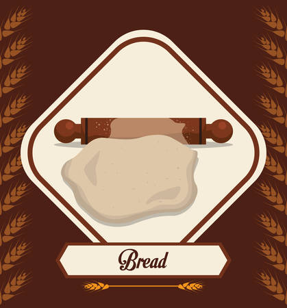 wheat grain: Bakery concept with bread icons design, vector illustration 10 eps graphic.