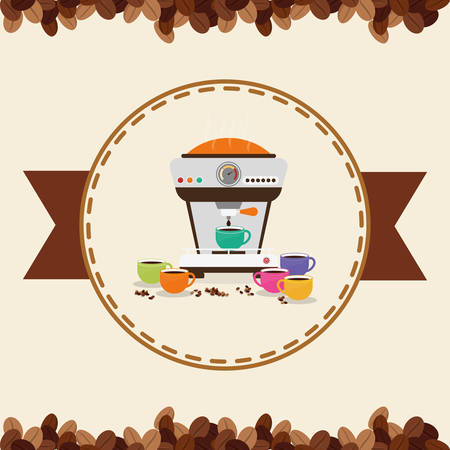machine shop: Coffee concept with icons design, vector illustration 10 eps graphic. Illustration