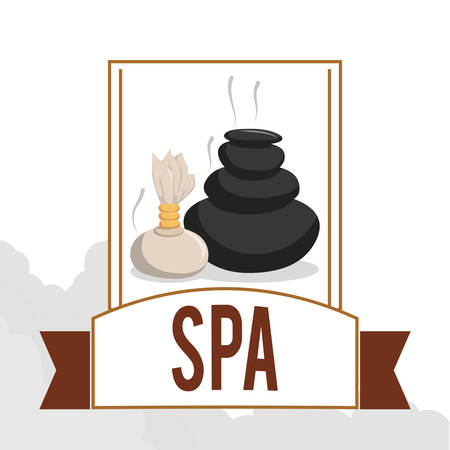 luxury hotel room: Spa center concept with healthy icons design, vector illustration 10 eps graphic. Illustration