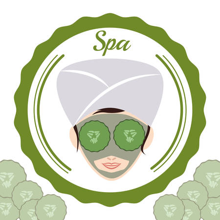 pampering: Spa center concept with healthy icons design, vector illustration 10 eps graphic. Illustration