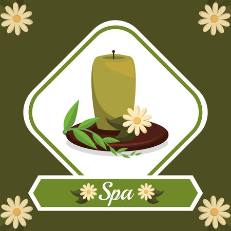 Spa center concept with healthy icons design, vector illustration 10 eps graphic. Illustration