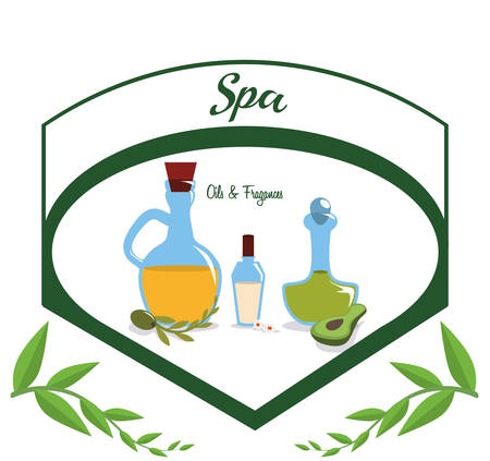 retreat: Spa center concept with healthy icons design, vector illustration 10 eps graphic. Illustration