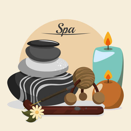 alternative rock: Spa center concept with healthy icons design, vector illustration 10 eps graphic. Illustration