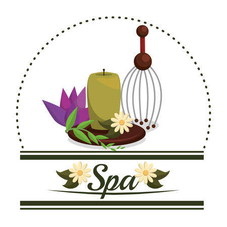 flower bath: Spa center concept with healthy icons design, vector illustration 10 eps graphic. Illustration