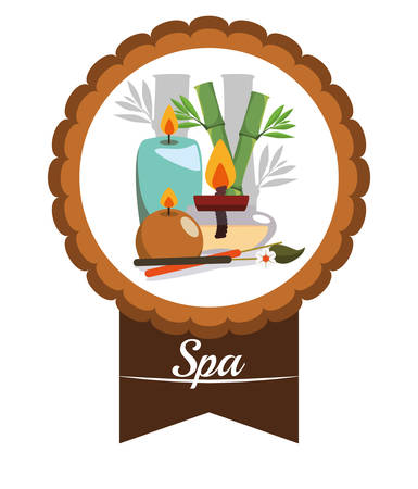 bath treatment: Spa center concept with healthy icons design, vector illustration 10 eps graphic. Illustration