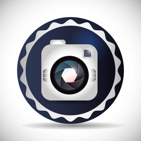 digicam: Camera  concept with icons design, vector illustration 10 eps graphic.