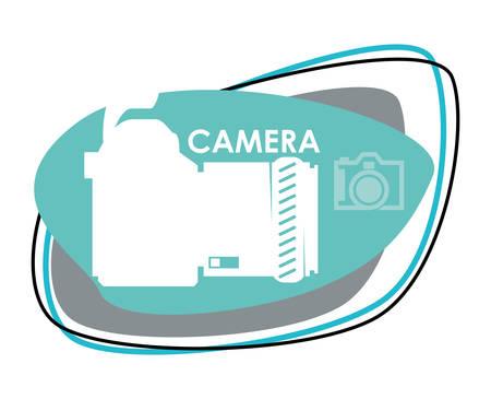 digicam: Camera  concept with icons design