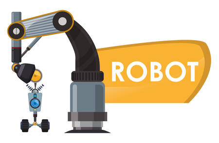 cybernetics: Robot concept with machine icons design, vector illustration 10 eps graphic.