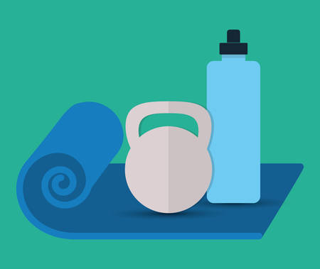 bodies of water: Gym and Fitness lifestyle graphic design, vector illustration eps10