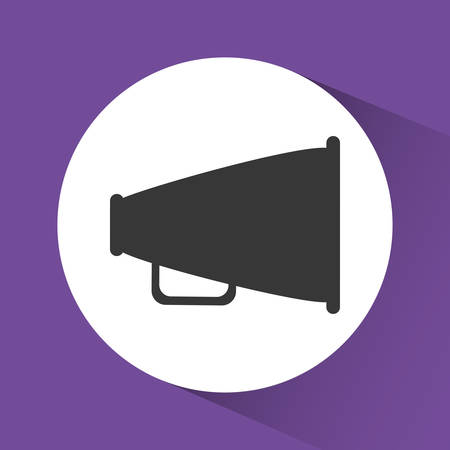 announce: bullhorn announce graphic design, vector illustration eps10 Illustration