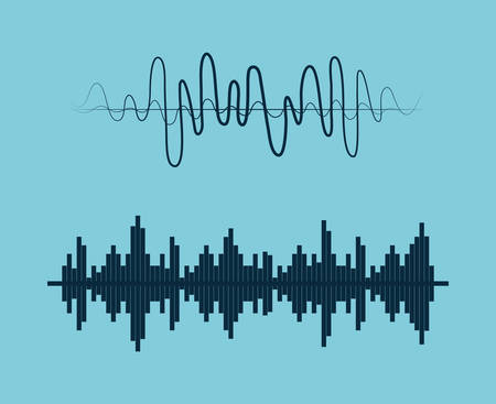music symbol: Sound of voice graphic design, vector illustration eps10