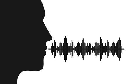 Sound of voice graphic design, vector illustration eps10