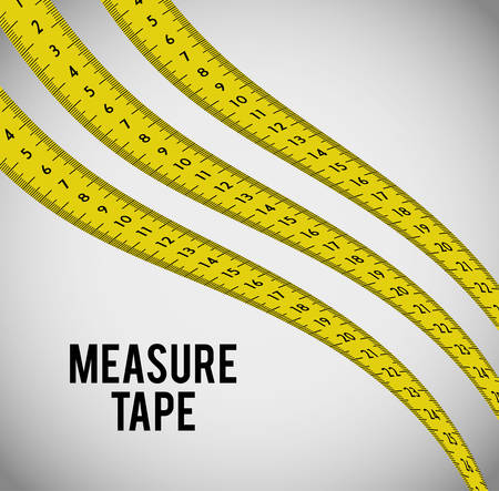 dieting: Measure tape and dieting graphic design, vector illustration eps10
