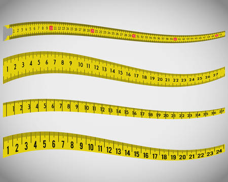 cinta metrica: Cinta de la medida y el diseño gráfico de dieta, ilustración vectorial eps10 Vectores