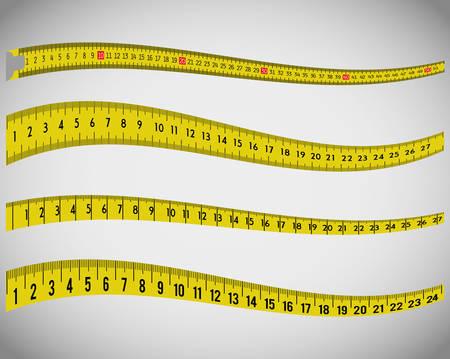 páska: Změřte pásky a diety grafický design, vektorové ilustrace eps10