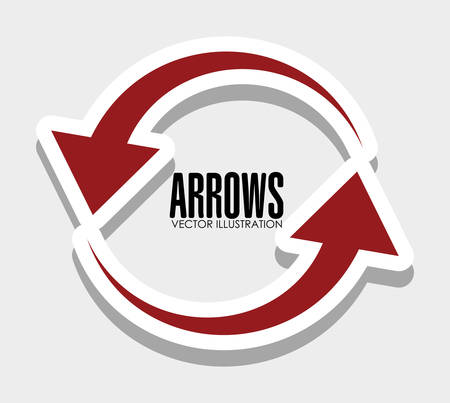 down under: Arrows icons graphic design, vector illustration eps10