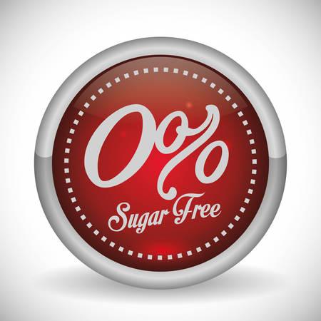 sweetener: No sugar or sugar free graphic design, vector illustration eps10