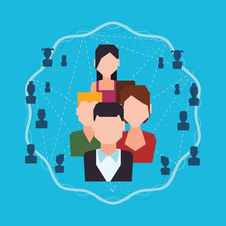 socialising: Los medios sociales y la tecnología de diseño gráfico, ilustración vectorial eps10 Vectores