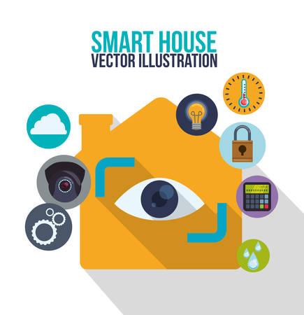 La tecnología casa inteligente diseño gráfico, ilustración vectorial eps10