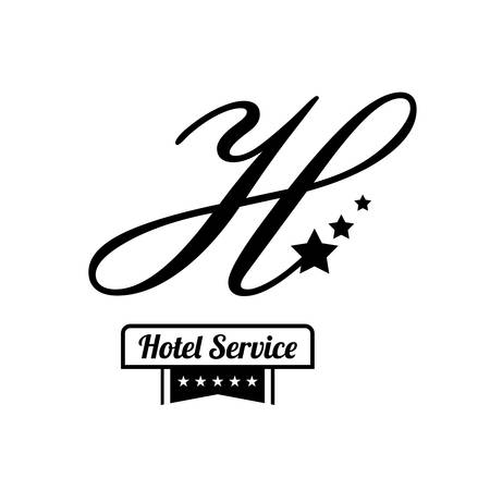 foreigner: Hotel service icon graphic design, vector illustration eps10