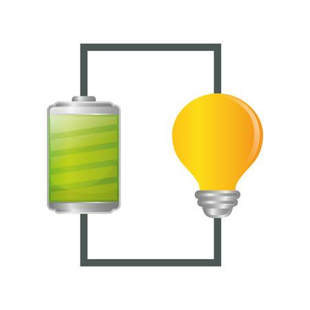 voltmeter: Battery icons graphic design, vector illustration eps10