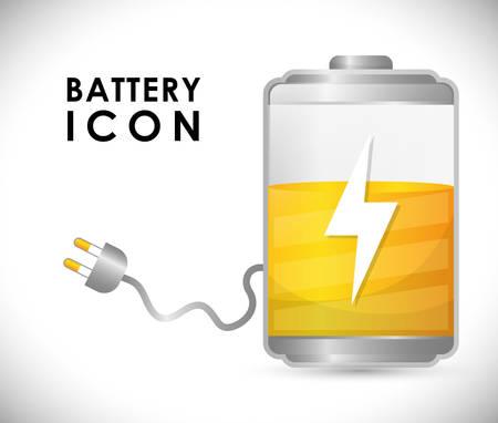 watt: Battery icons graphic design, vector illustration eps10